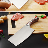 Stainless Steel Knife, Seamless Welding, Resin Fibre Handle, High Carbon Blade