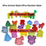 7pcs Animal Cookie Stamps