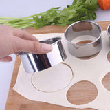 Stainless Steel Round Cake Biscuit Cookie Cutters