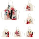 Nail Polish & Flowers Kitchen Aprons