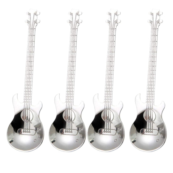 4 Pcs Stainless Steel Musical Coffee Spoons
