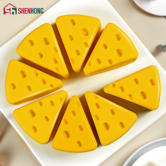 8 Holes Cheese Shaped Silicone Cake Molds