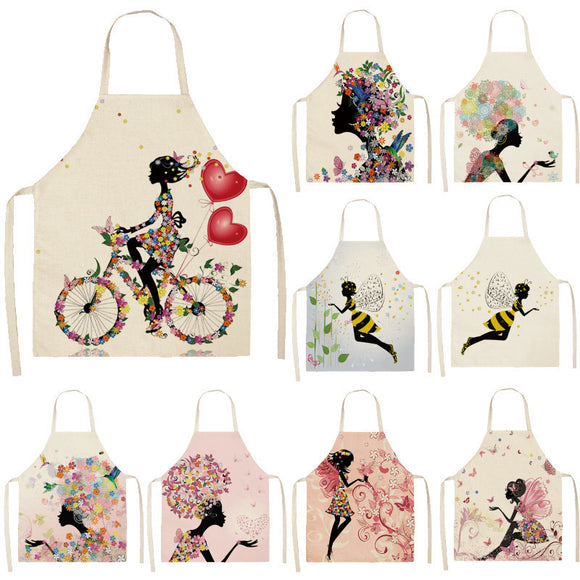 Cotton Linen Kitchen Aprons