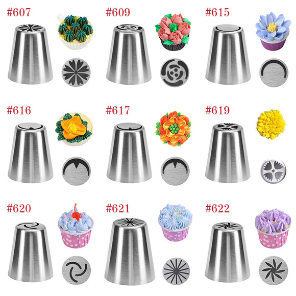 26 Styles Russian Icing Piping Tips