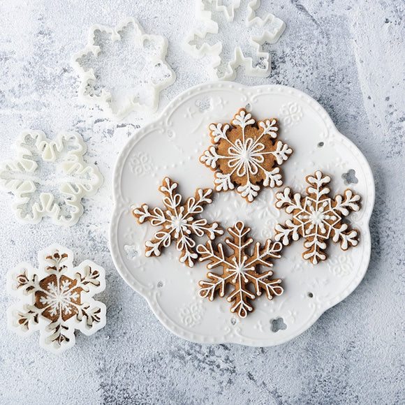 Christmas Snowflake 3D Cookie Molds