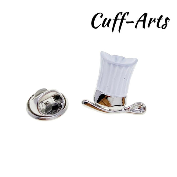 White Chefs Hat Brooch