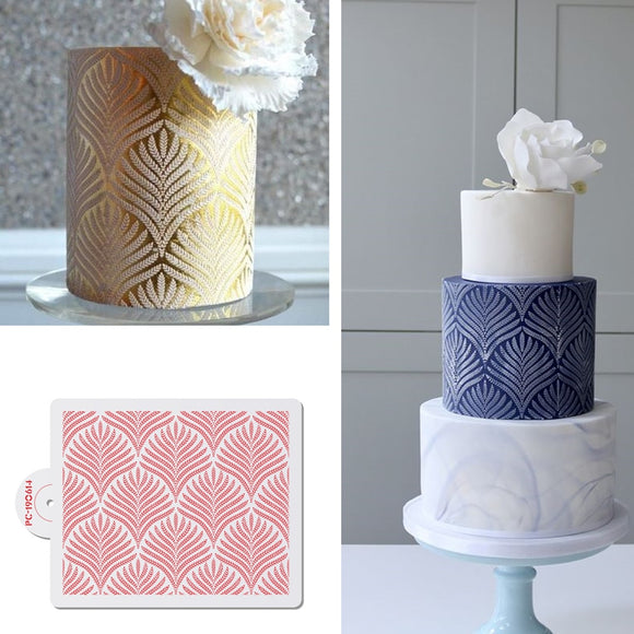 Wheat Spike Pattern Cake Stencil