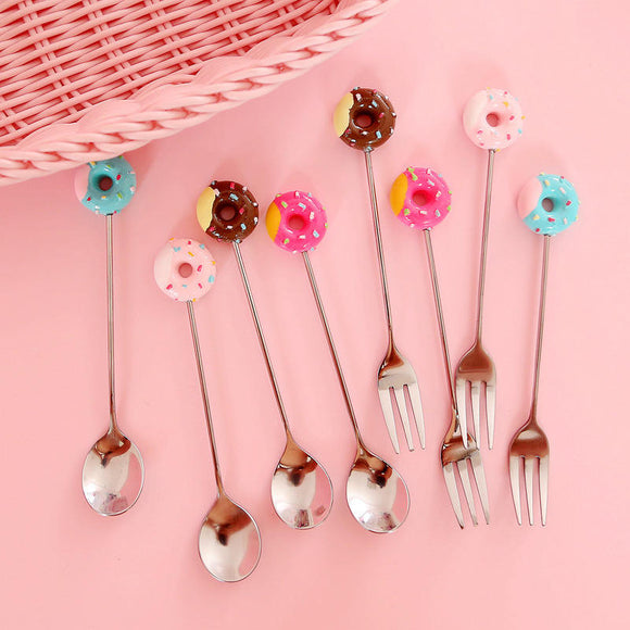 Doughnut Styled  Stainless Steel Spoon