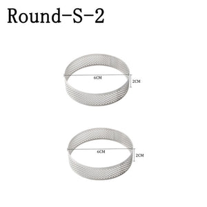 Round Stainless Steel Tart Rings