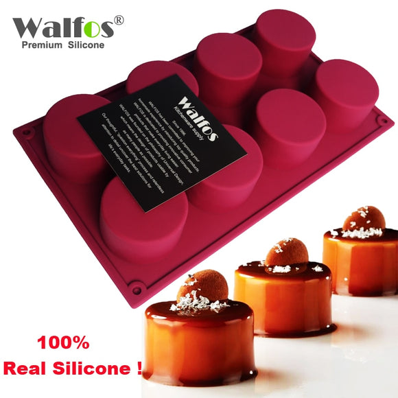 WALFOS 3D Handmade Round Shape Silicone Mold