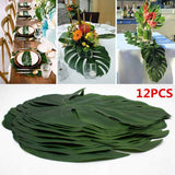 12pcs/Lot Summer Tropical Party Artificial Palm Leaves