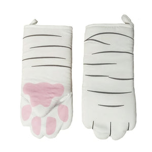 Heat Resistant 3D Cat Paws Oven Mitts
