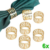 6pcs Serviette Rings