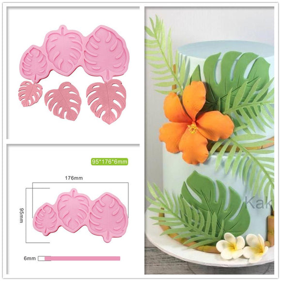 3 Sizes Monstera Leave Silicone Mold