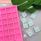 Lovely Alphanumeric Silicone Mold