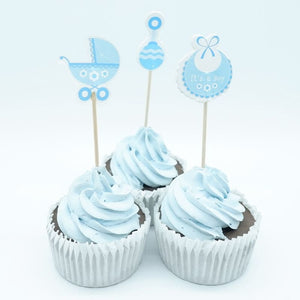 18pcs Baby Shower Cupcake Toppers