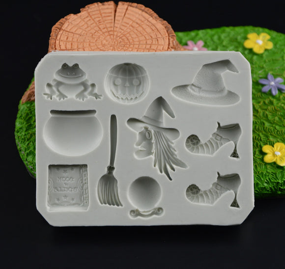 Halloween 3D Witch Mould