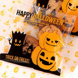 100pcs Multistyle Halloween Self-adhesive Plastic Bags