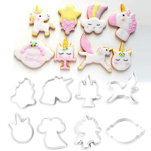 8pc Unicorn Cookie Cutters