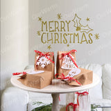 4 Pc Christmas Kraft Paper Bags with White Tags