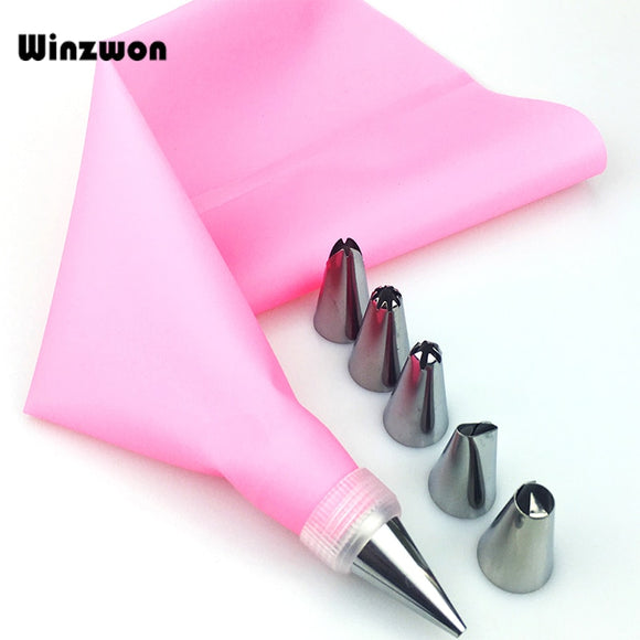8Pcs Silicone Icing Piping Tips