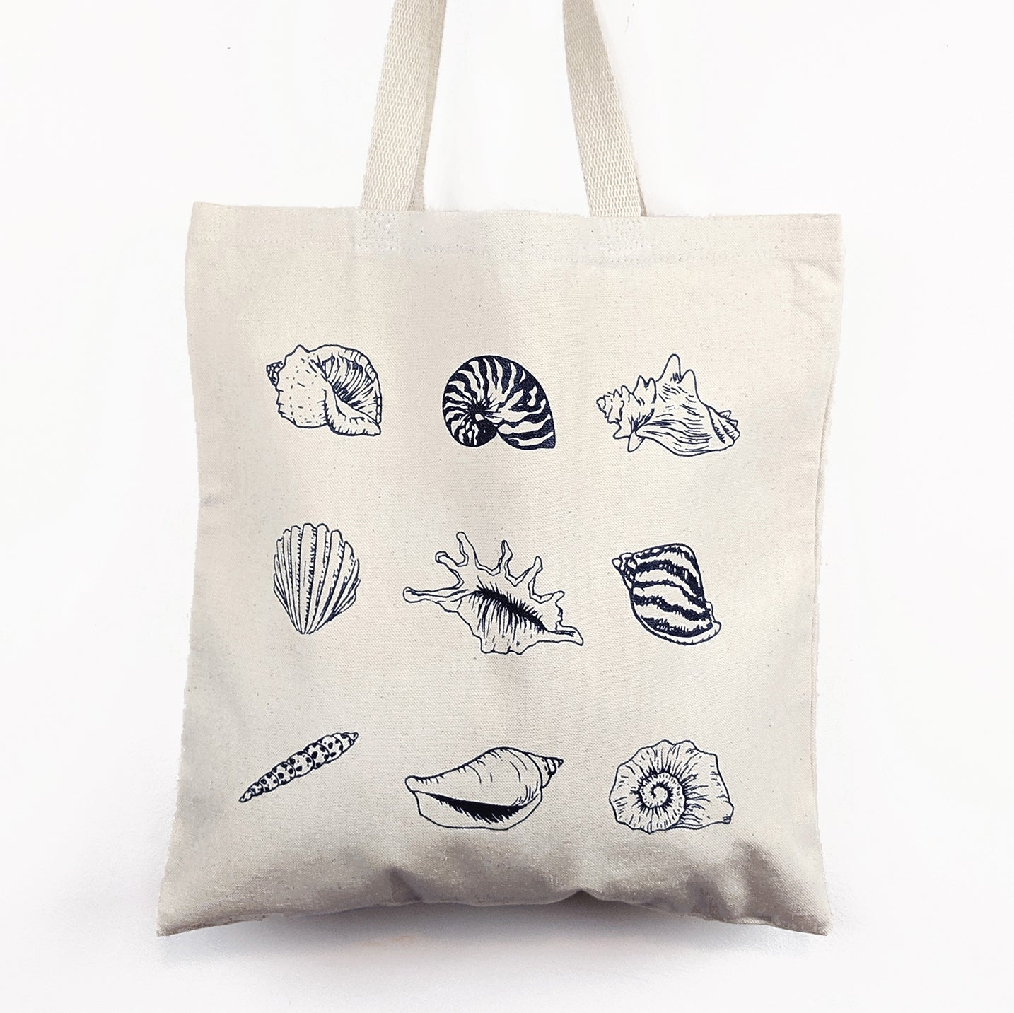 shell tote bag beach