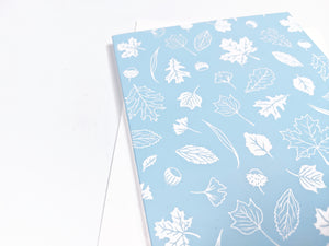 Light blue leaves pattern - Holidays Card