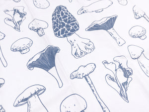 Mushrooms blue & white - Tea Towel