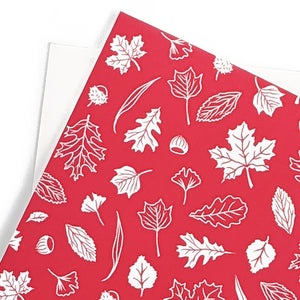 Red leaves pattern - Holidays Card