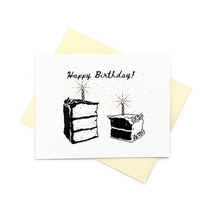 Birthday Cake slices - Birthday Card
