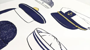 Sailor hats - Art Print
