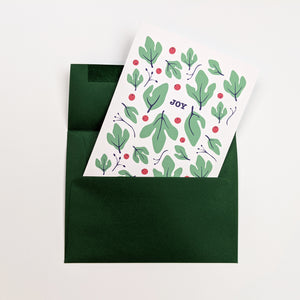 JOY - Christmas pattern - Holidays greeting Card