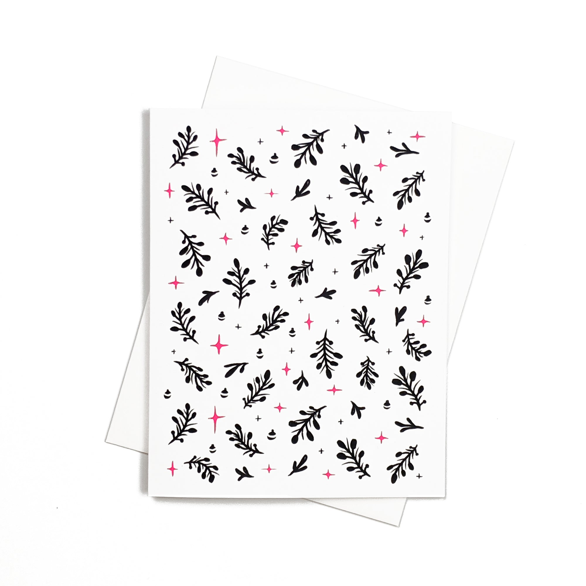 Christmas pattern red and black - Holidays greeting Card