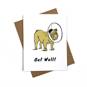 Dog Get Well - Greeting Card