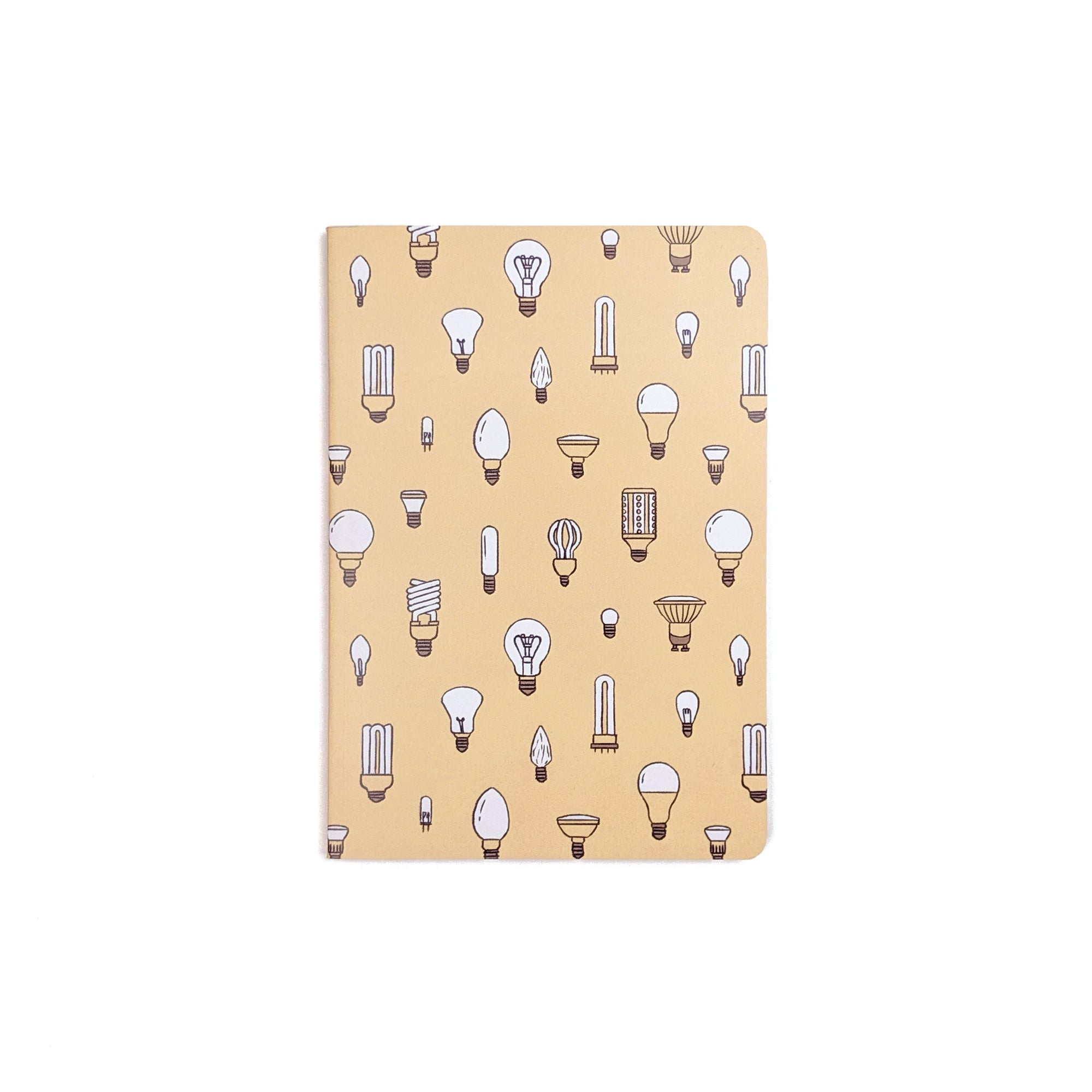 bulbs pattern mini pocket notebook