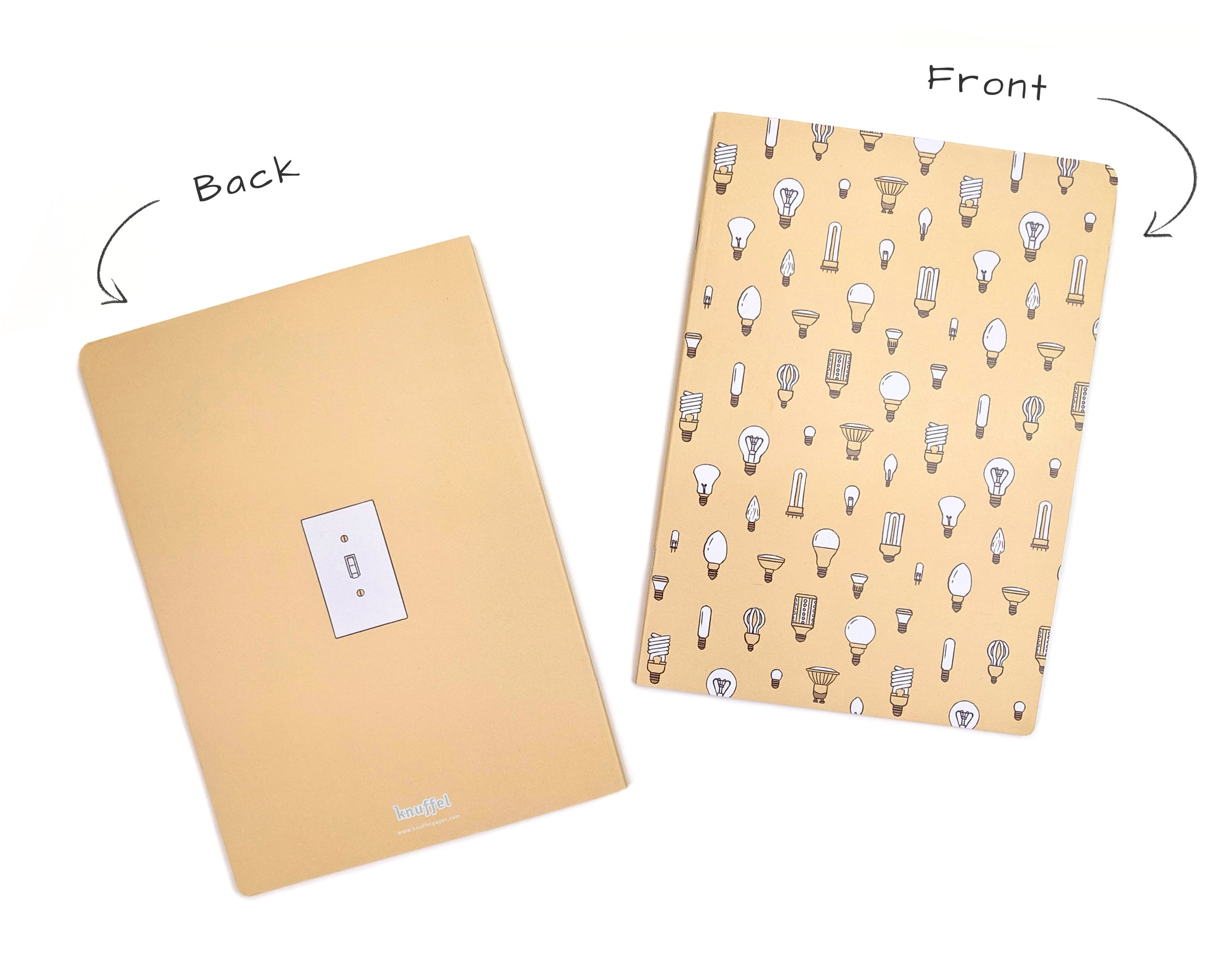 yellow bulbs pattern ideas notebook