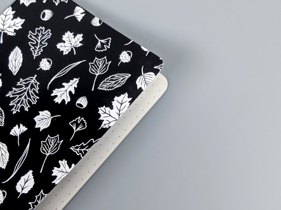 Northern Leaves B&W - Pocket Notebook