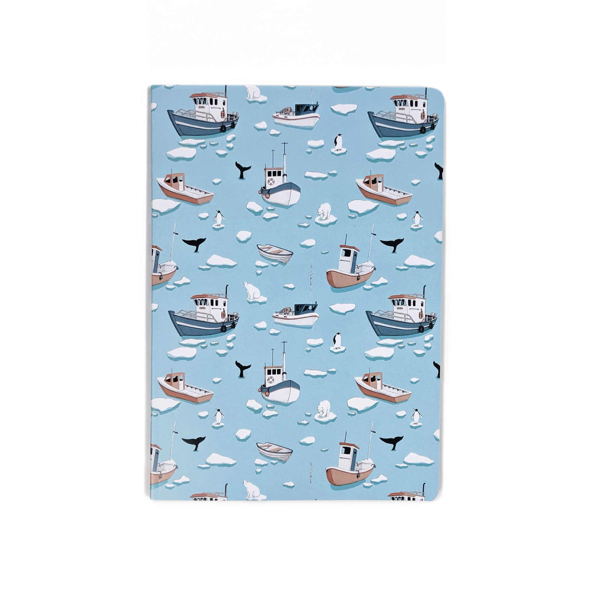 arctic boats pattern notebook
