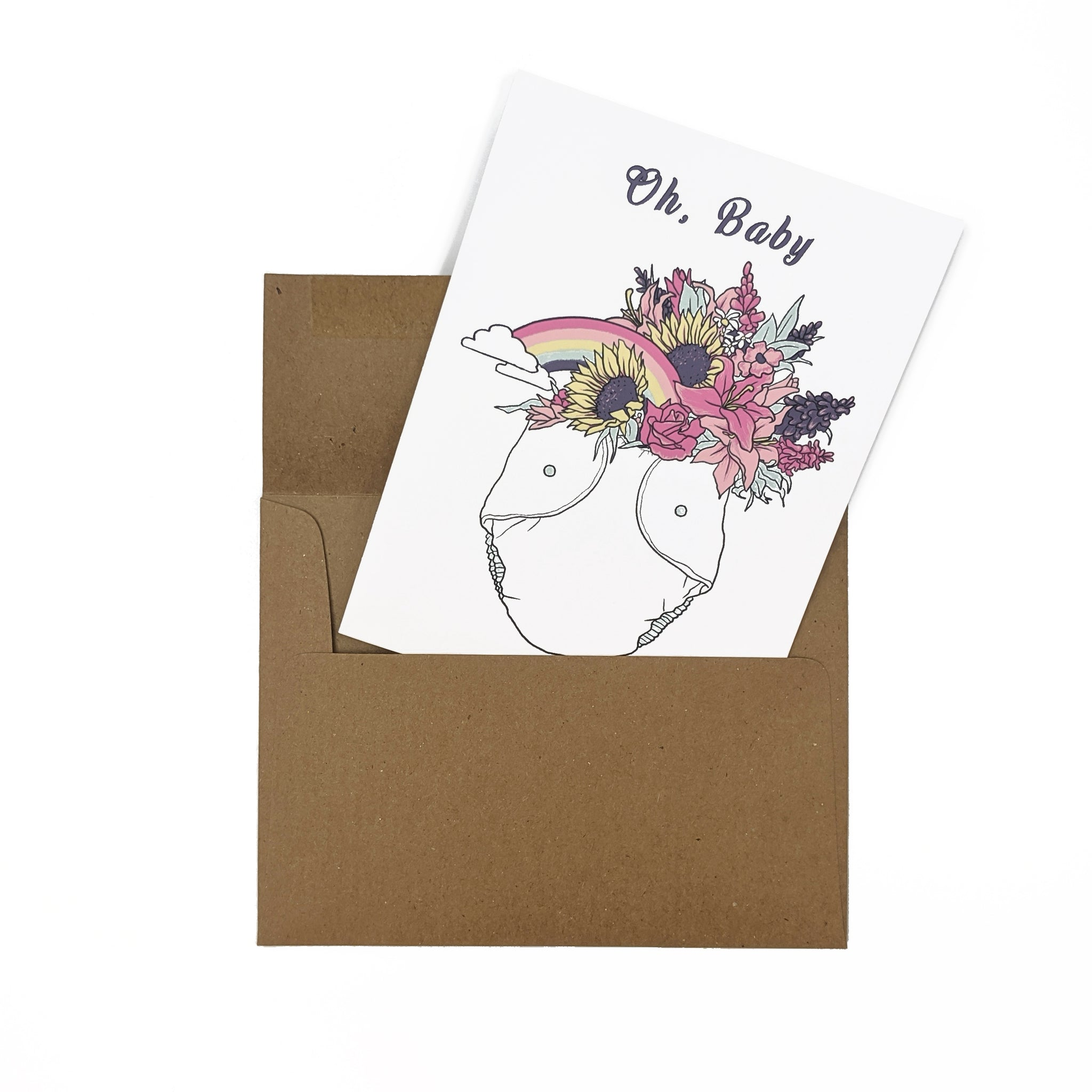 Oh, Baby - Greeting Card