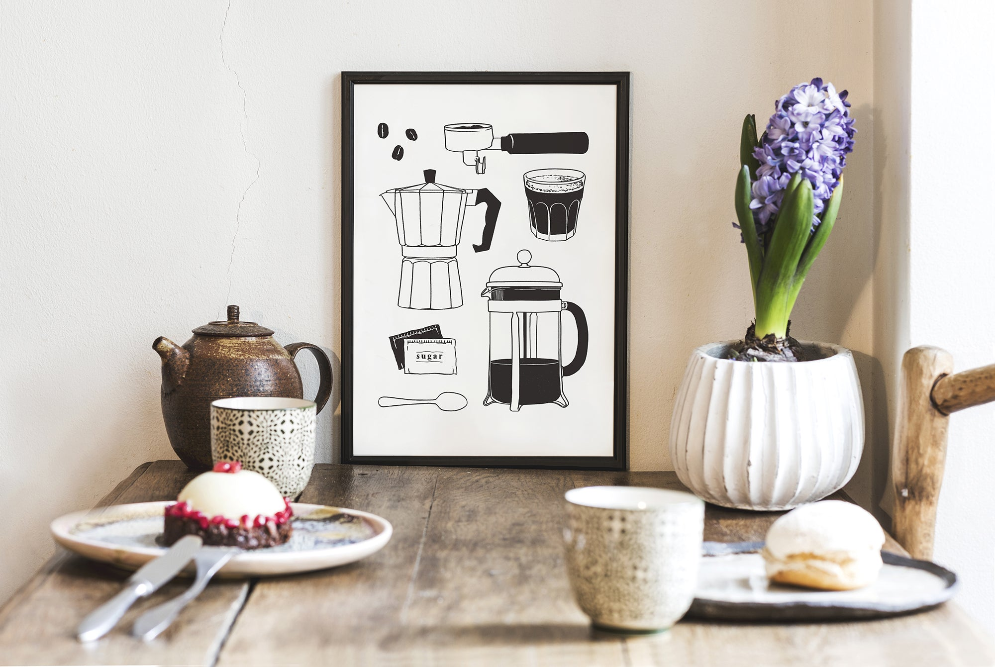 coffee poster illustration