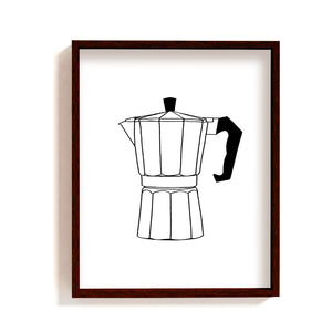 Coffee maker art print - macchinetta