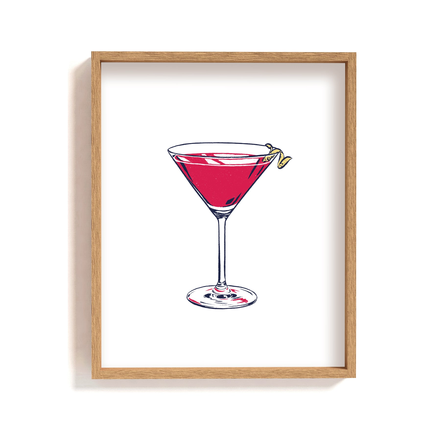 cosmopolitan illustration wall art poster