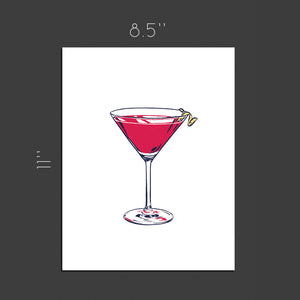 Cosmopolitan cocktail - Art print