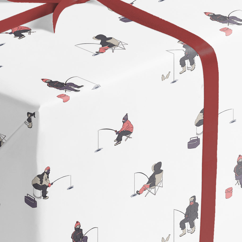ICE FISHING - wrapping paper