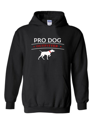 PRO DOG OUTFITTER BLACK HOODIE