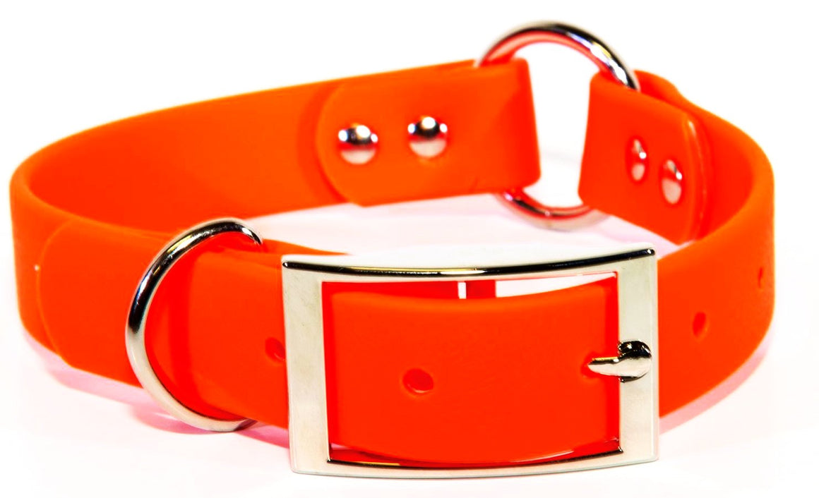 1 Inch ProDog Brand TufFlex Orange Center Ring Collar - Customize your nameplate!