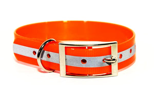 1 Inch ProDog Brand Reflective Orange Standard Collar - Customize your nameplate!