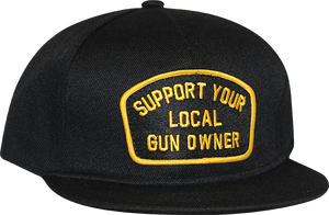 SUPPORT SNAPBACK- BLACK/YELLOW