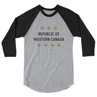 Republic of Western Canada 3/4 Sleeve
