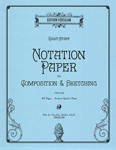 Notation Paper Notebook for Compositions and Sketches